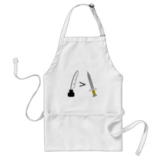 The Pen is mightier than the Sword Adult Apron