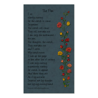 """""""The Pen"""" Mini-Bookmark Card Double-Sided Standard Business Cards (Pack Of 100)"""