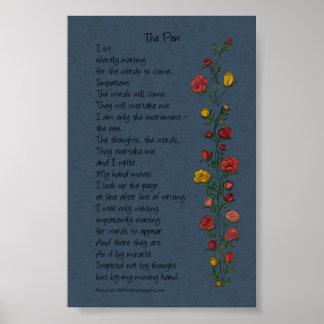 """The Pen"" Rose Trellis Poster"