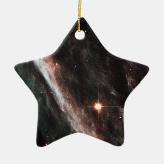 The Pencil Nebula Ceramic Ornament