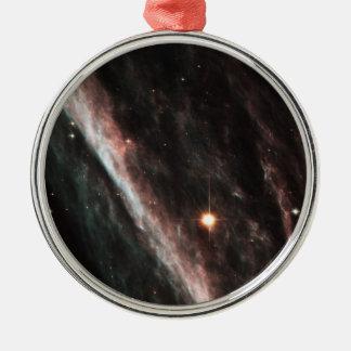 The Pencil Nebula Metal Ornament
