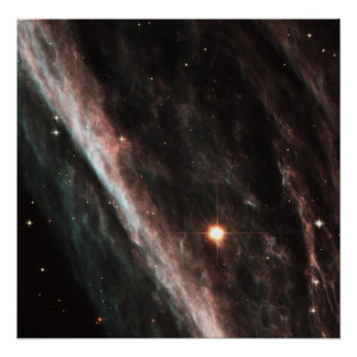 The Pencil Nebula: Remnants of an Exploded Star (N Poster