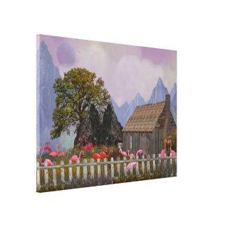 the penfield pink plastic flamengo sanctuary canvas print