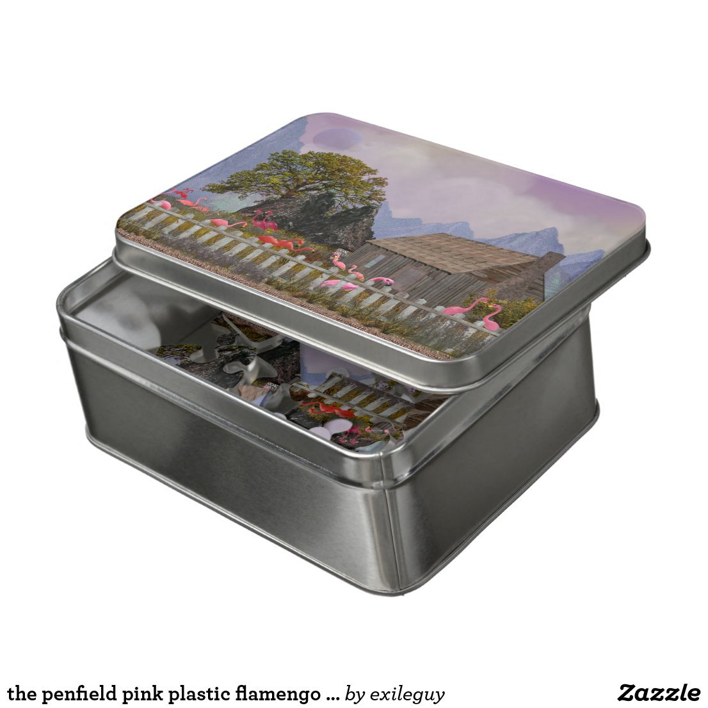 the penfield pink plastic flamengo sanctuary jigsaw puzzle