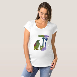 The Penguin And The Mushroom Maternity T-Shirt
