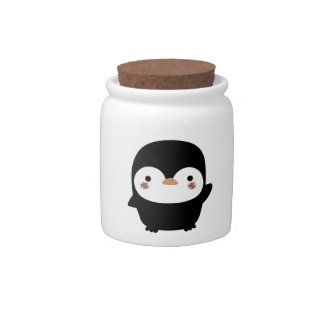 the penguin candy jar