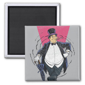 The Penguin - Distressed Graphic Magnet