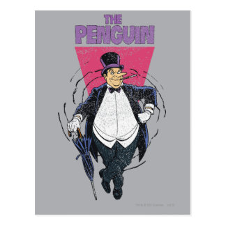 The Penguin - Distressed Graphic Postcards