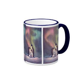 THE PENGUIN FAMILY by SHARON SHARPE Ringer Coffee Mug