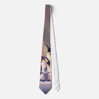 THE PENGUIN FAMILY by SHARON SHARPE Neck Tie
