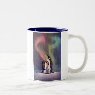THE PENGUIN FAMILY by SHARON SHARPE Two-Tone Coffee Mug