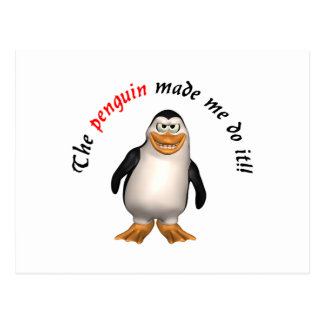 The penguin made me do it post cards