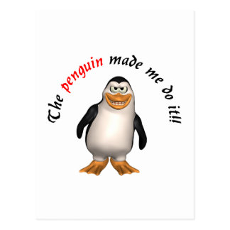 The penguin made me do it postcards