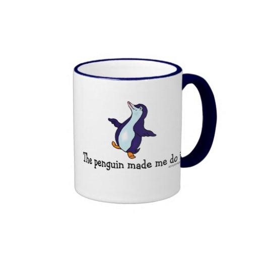 The Penguin Made Me Do it! Ringer Mug