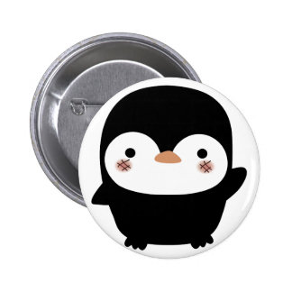 the penguin pinback button