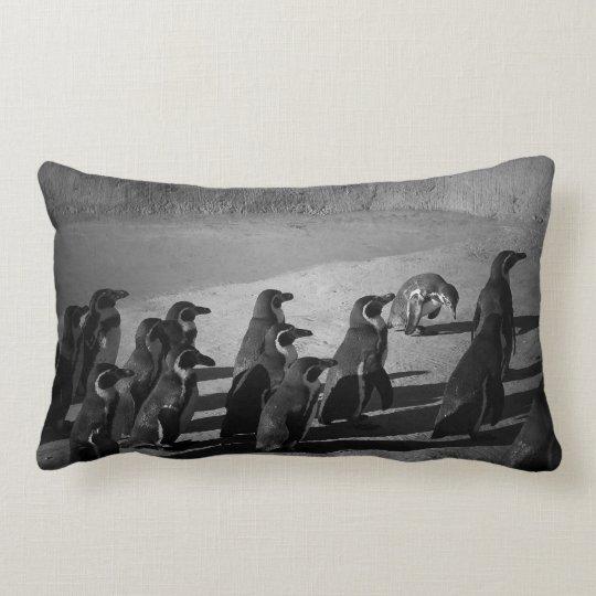 The Penguins by Dia DiCristino Lumbar Pillow