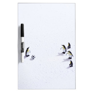The penguins playing soccer Dry-Erase board