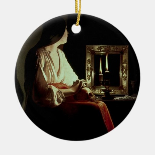 The Penitent Magdalen, c.1638-43 (oil on canvas) Christmas Ornament