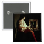 The Penitent Magdalen, c.1638-43 (oil on canvas) Pinback Button