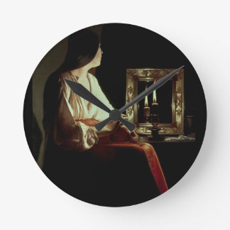 The Penitent Magdalen, c.1638-43 (oil on canvas) Round Clock