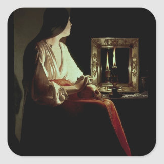 The Penitent Magdalen, c.1638-43 (oil on canvas) Square Sticker