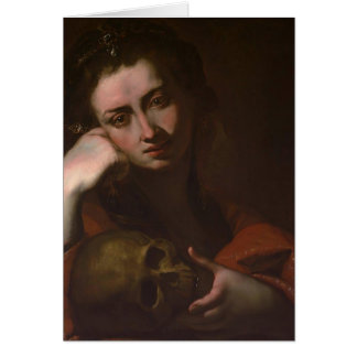 The Penitent Magdalen (Vanitas) by Jusepe Ribera Card