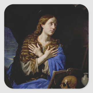 The Penitent Magdalene, 1657 Square Sticker