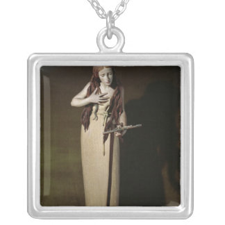 The Penitent Magdalene, 1664 Square Pendant Necklace