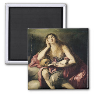 The Penitent Magdalene 2 Inch Square Magnet