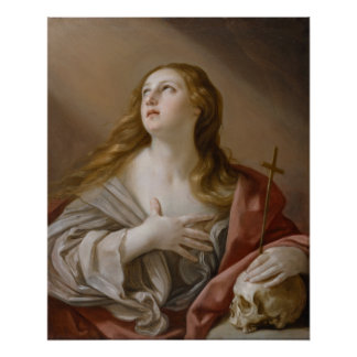 """The Penitent Magdalene"" art poster"