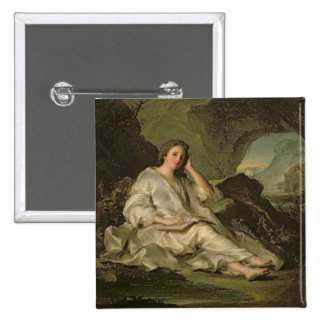 The Penitent Magdalene (oil on canvas) Pinback Button