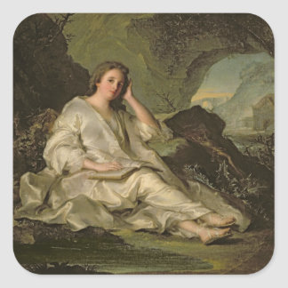 The Penitent Magdalene (oil on canvas) Square Sticker