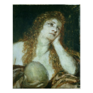The Penitent Mary Magdalene, 1873 Poster