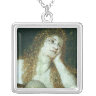 The Penitent Mary Magdalene, 1873 Silver Plated Necklace