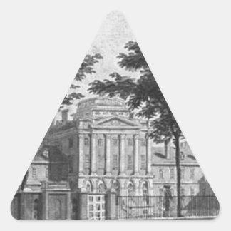 The Pennsylvania Hospital by Pavel Svinyin Triangle Sticker