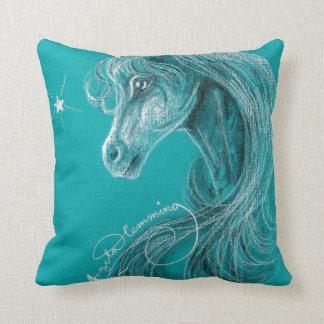 The Pensive Arabian Horse Throw Pillow