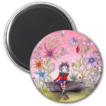 The Pensive Elf 2 Inch Round Magnet