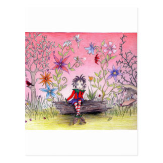The pensive elf postcard