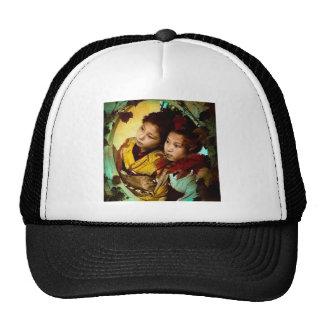The Pensive Gaze of Two Geisha Vintage Japan Trucker Hat