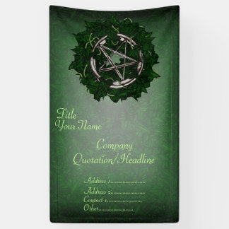 The Pentacle & The Ivy Banner