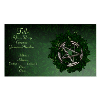 The Pentacle & The Ivy Business Card Templates