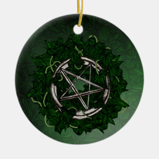 The Pentacle & The Ivy Ceramic Ornament