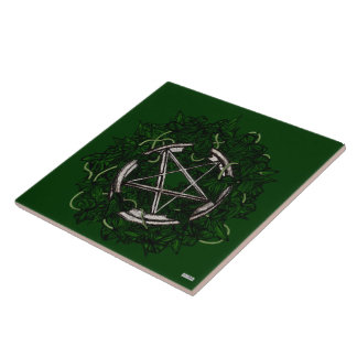 The Pentacle & The Ivy Ceramic Tile
