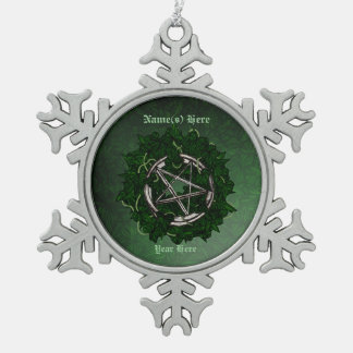 The Pentacle & The Ivy Snowflake Pewter Christmas Ornament