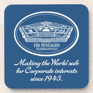 The Pentagon Beverage Coaster