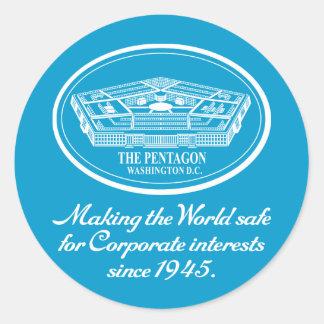 The Pentagon Classic Round Sticker