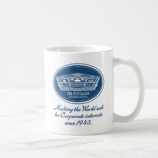 The Pentagon Classic White Coffee Mug