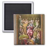 The Pentecost, c.1604-14 2 Inch Square Magnet