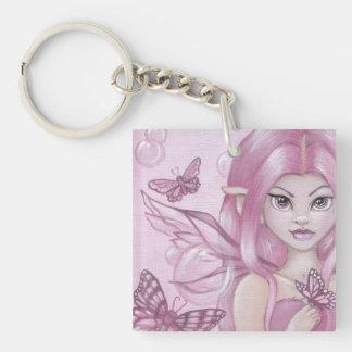 """""""The Peony Fairy"""" fantasy keychain"""