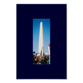 The People and the Washington Monument Poster
